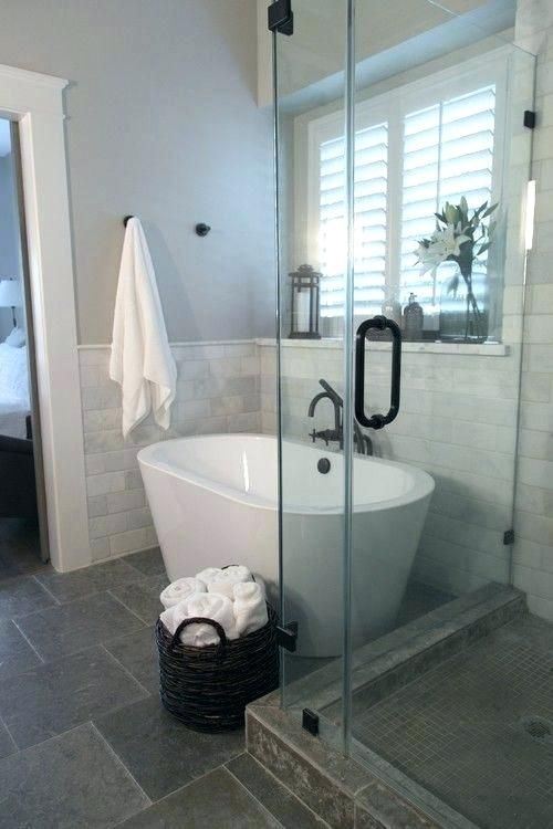 Image Result For Small Bathroom With Tub And Stand Up Shower Smallbathroomdesignswiths Small Bathroom With Shower Small Bathroom Remodel Small Master Bathroom