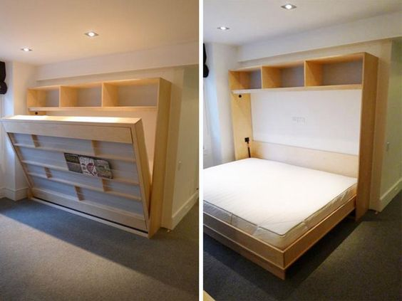 Murphy Bed Twin Size With Great Under Bed Book Shelf