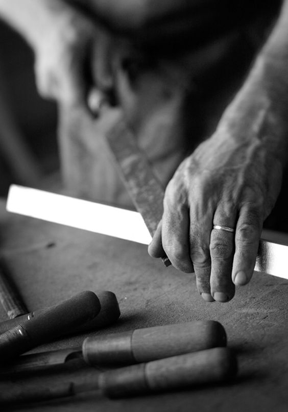 The quality of work at each step is guaranteed by the individual Craftsperson, a process assuring a flawless piece of furniture.