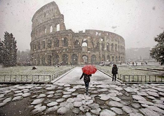 Snowy Rome