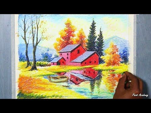 7648 Oil Pastel Autumn Season House Landscape Step By Step Drawing Youtube Oil Pastel Drawings Oil Pastel Oil Pastel Art