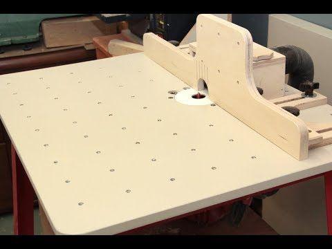 Fabriquer une table à toupie et des guides ajustables