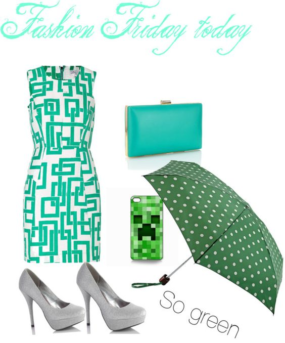 """""""Lets go green"""" by enjgresch ❤ liked on Polyvore"""