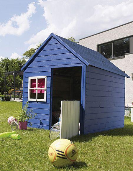 Caseta infantil de 1 56 m2 marina ref 16280145 leroy for Caseta jardin leroy merlin