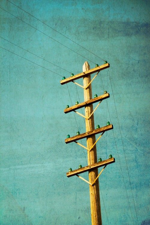 This is what power lines used to look like they had the for Glass power line insulators