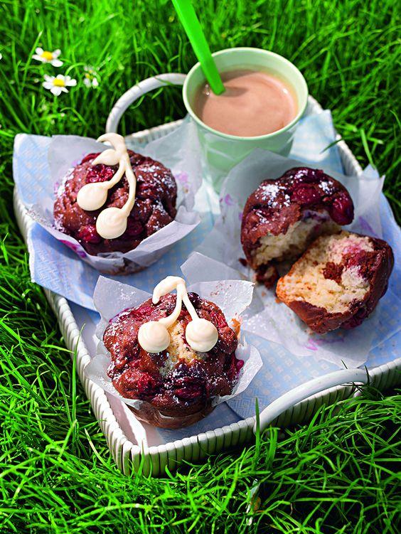 Marmor-Kirsch-Muffins -  Fruchtige Kirschmuffins für den Kaffeetisch