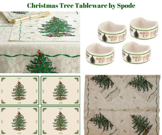 Christmas Tree Table Linens by Spode