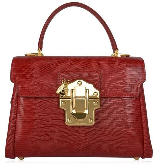 Dolce And Gabbana Lucia Bee Shoulder Bag (60 270 UAH) ❤ liked on Polyvore featuring bags, handbags, shoulder bags, red, shoulder handbags, man bag, red purse, red leather purse and handbags purses