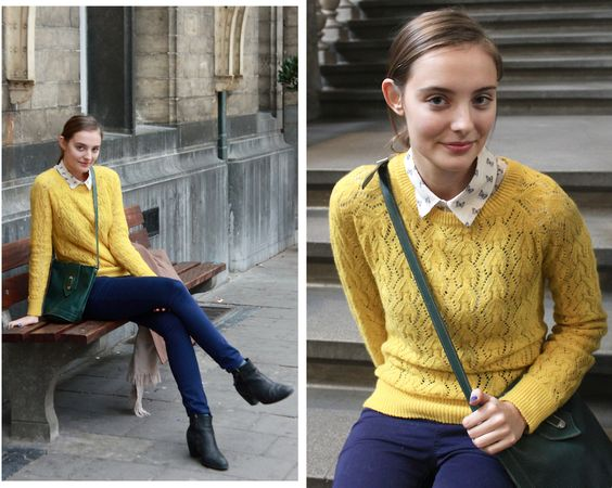 A colourful outfit to brave these gray Winter days! Read more about it on http://polienne.blogspot.com.