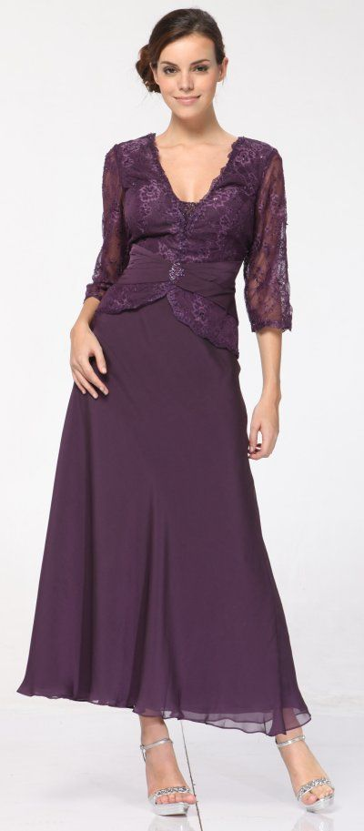 mother of the bride dresses plus size - Plus Size Purple Mother of ...