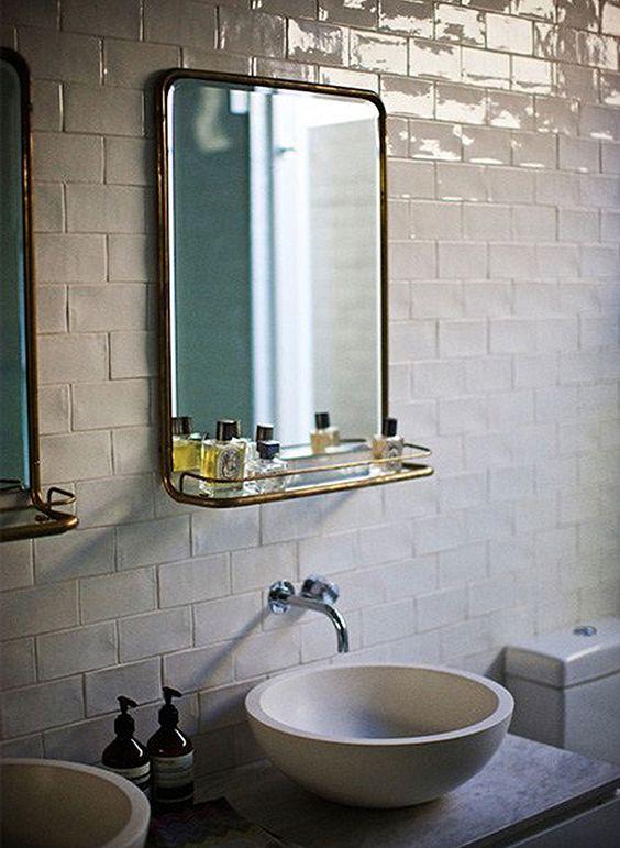Art deco brass mirror- beautiful