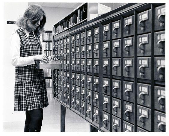 """""""A student using the card catalogue at the David O. McKay Library at BYU-Idaho."""""""