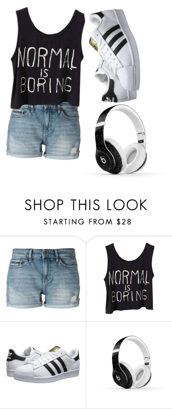 """""""sprtv"""" by edanurdokumaci ❤ liked on Polyvore featuring Calvin Klein Jeans, adidas Originals and Beats by Dr. Dre"""