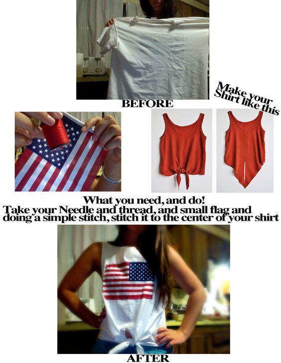hand sewn american flag