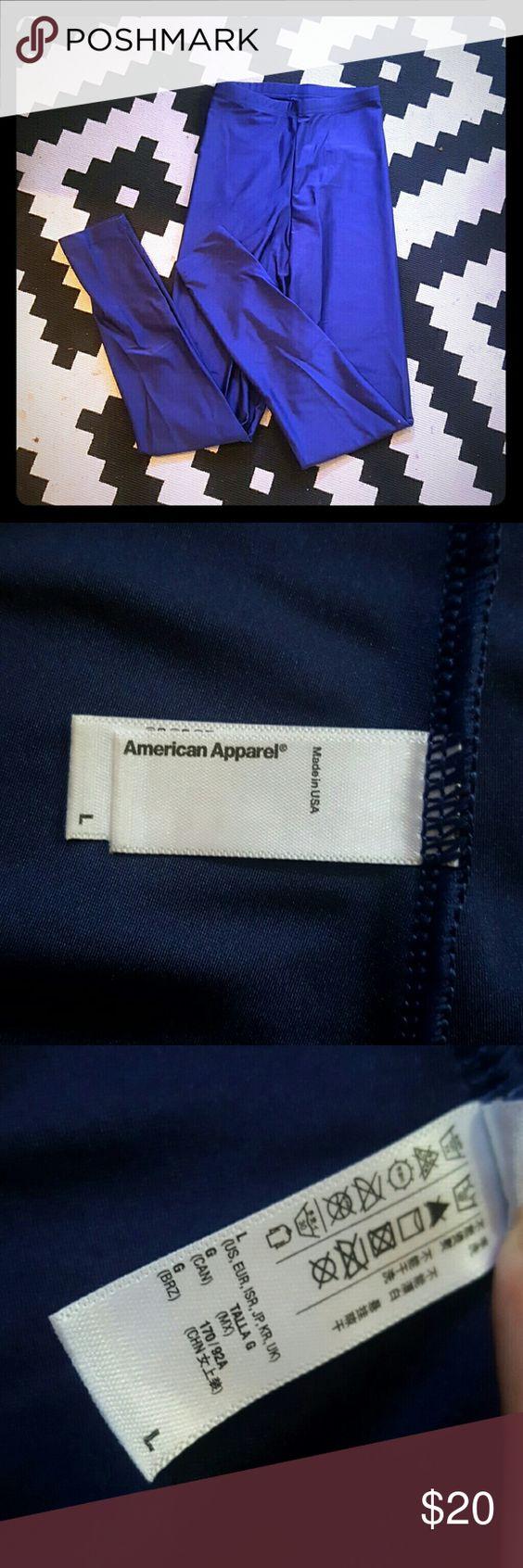 American Apparel leggings Blue. Shiny! American Apparel Pants Leggings