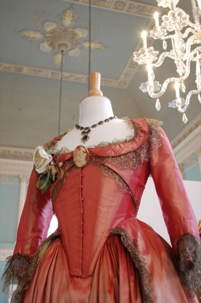 Dress worn by Keira Knightley in The Duchess. This is the dress that Georgiana wears in the scene where she attends a ball in a rather squiffy state.