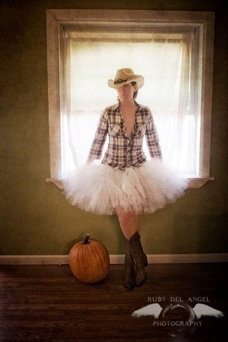 White Tutu Skirt Adult White Tutu 16 Inch Long Teen Sewn