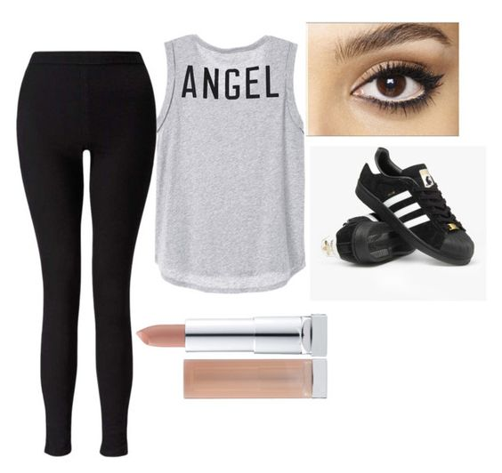 """""""tenth"""" by xddvhf on Polyvore featuring adidas, Charlotte Tilbury and Miss Selfridge"""