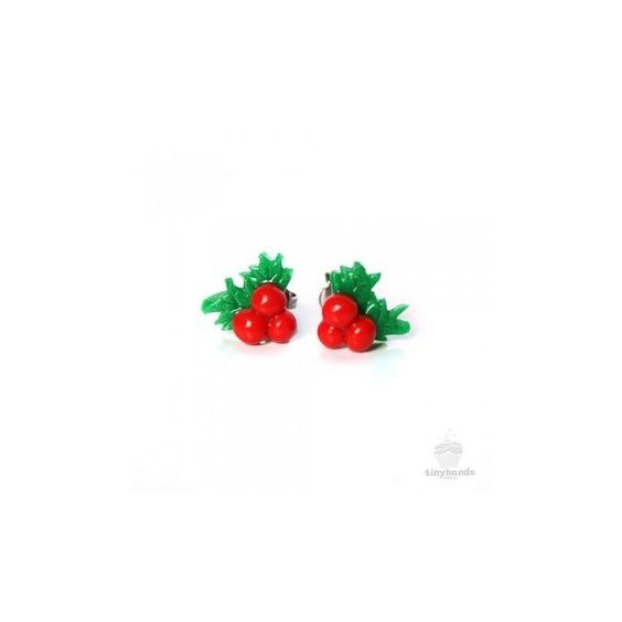 Holly Berry Earstuds ($28) ❤ liked on Polyvore