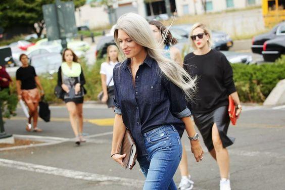 STREETFSN Long grey hair