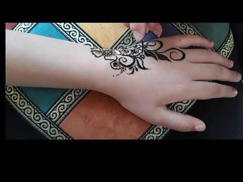 أحدث موديل نقش الصبغه الأسود Youtube Hand Tattoos Henna Hand Tattoo Hand Henna