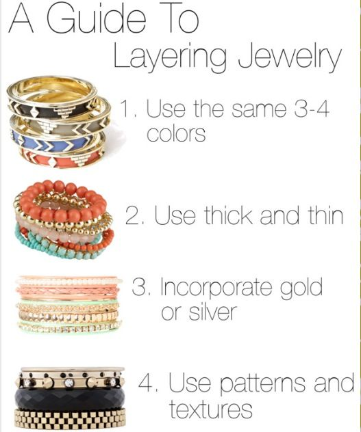 layering jewelry via FashionableLab.blogspot.com