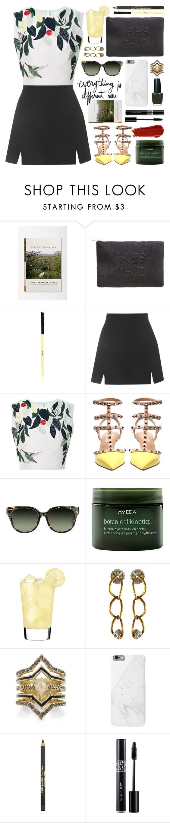 """azede jean-pierre top"" by jesuisunlapin ❤ liked on Polyvore featuring Miss Selfridge, Bobbi Brown Cosmetics, Topshop, Azede Jean-Pierre, Valentino, Barton Perreira, Aveda, Sephora Collection, BCBGeneration and Native Union"