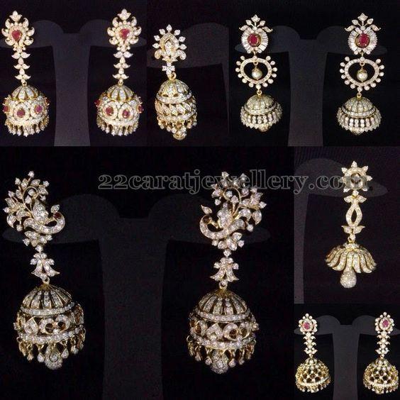 diamond jhumkas indian - photo #23