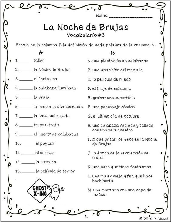 Printables Bilingual Worksheets grammar writing and the celebration on pinterest bilingual spanish english reading of halloween it includes a total of