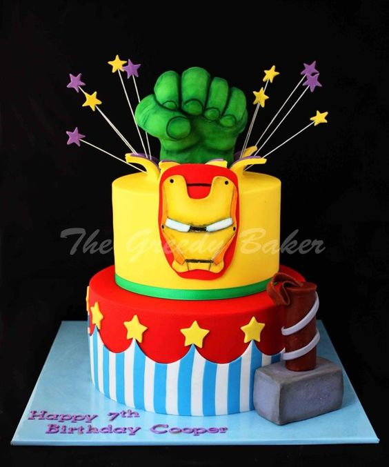 Avengers... Hunter's next cake?! :)