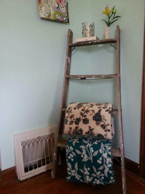 Ladder shelf accent