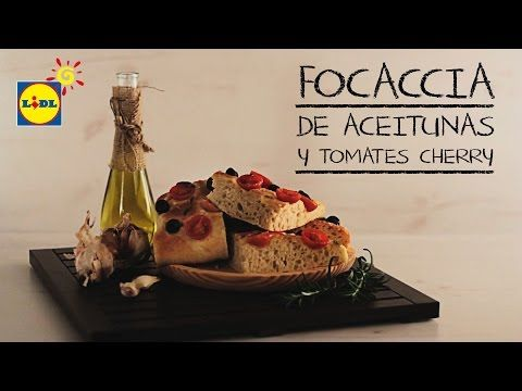 ▶ Focaccia De Aceitunas y Tomates Cherry - Recetas De Pan - YouTube
