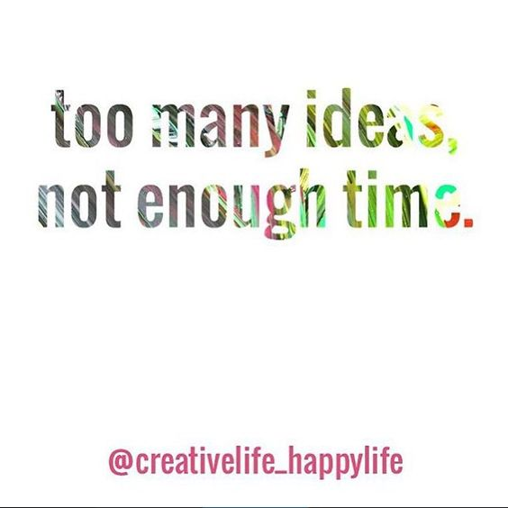 Who else feels like this? Getting all my creative ideas out is super hard especially working full time in a very non-creative workplace.   Also y'all need to hop on the #creativelifehappylife party bus if you haven't already! #