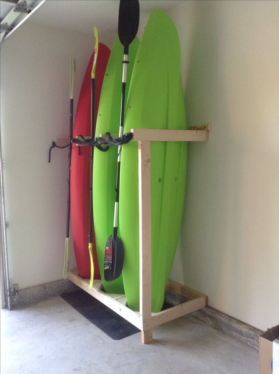 Handmade kayak storage