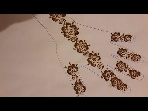 Henna Henna Design مهندي نقش الخطفة تعليم النقش بالحناء نقش حناء بالإبرة سهل و بسيط Youtube Hand Henna Henna Designs Hand Tattoos