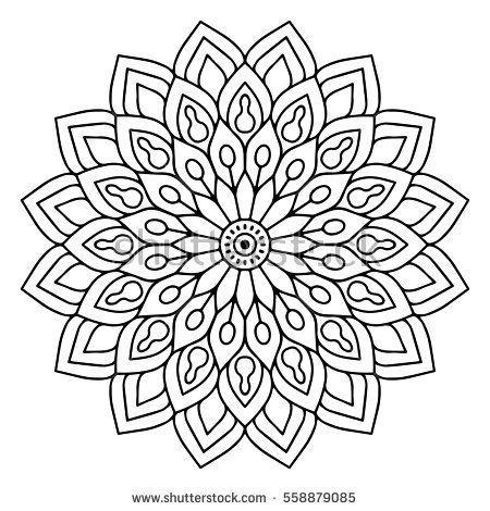 Blumen Mandalas Vintage Dekorative Elemente Orientalisches Muster Vektorillustrat Risunki Trafa Mandala Ausmalen Mandala Muster Ausmalbilder Mandala