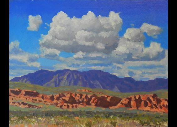 """Clouds Over Red Cliffs II,"" Frank Ray Huff, Jr., oil on canvas"