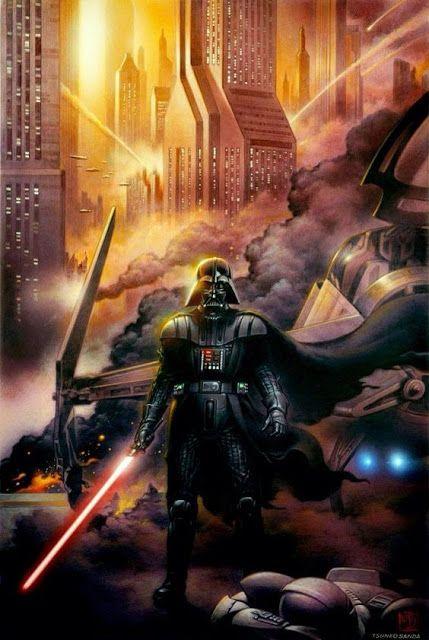 Galaxy Fantasy: Ilustraciones artísticas del Darth Vader el señor oscuro de la fuerza