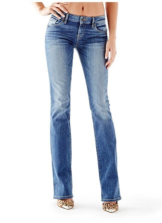 Mid-Rise Bootcut Jeans in Synder Wash $64