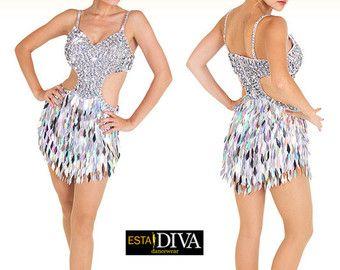 Vestito da ballo latino Sucinta Fiera paillettes di EstaDiva