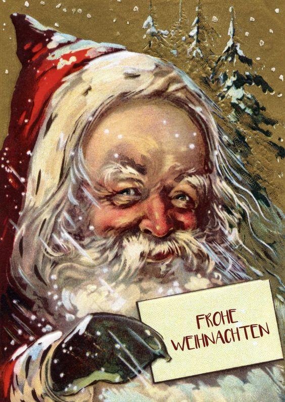 Der Weihnachtsmann ist da! | Frohe Weihnachten | Echte Postkarten online…
