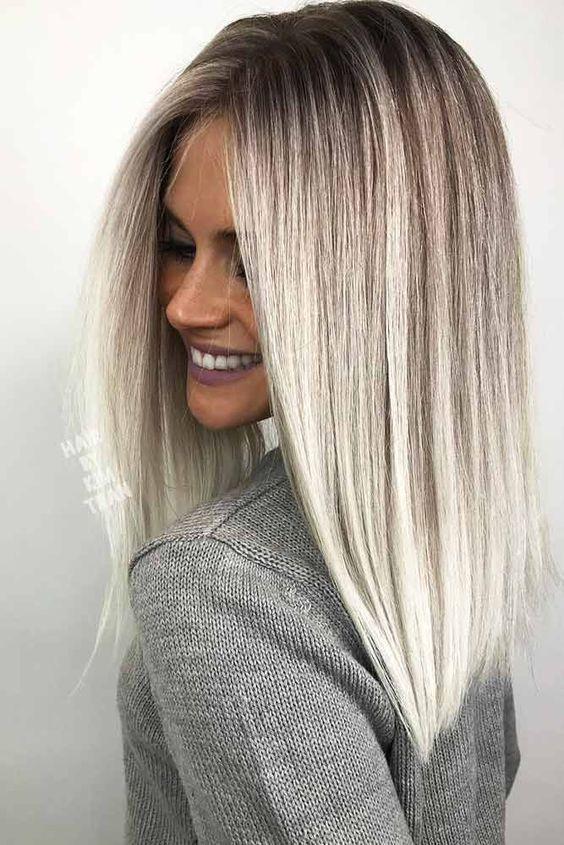 18 Inspiring Long Bob Hairstyle Ideas Straight Long Bob Hairstyles Picture 3 See More Glaminati Com Gerade Frisuren Lange Gerade Frisuren Haarfarben