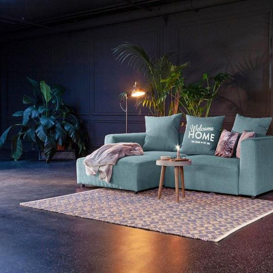 Tom Tailor Ecksofa Heaven Casual S Aus Der Colors Collection Wahlweise Mit Bettfunktion Bettkast In 2020 Sofa Blauer Stoff Rosa Stoff