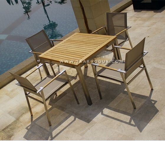 Phiphi Stacking Arm Chair Outdoor Dining Chair Malaysia Teak