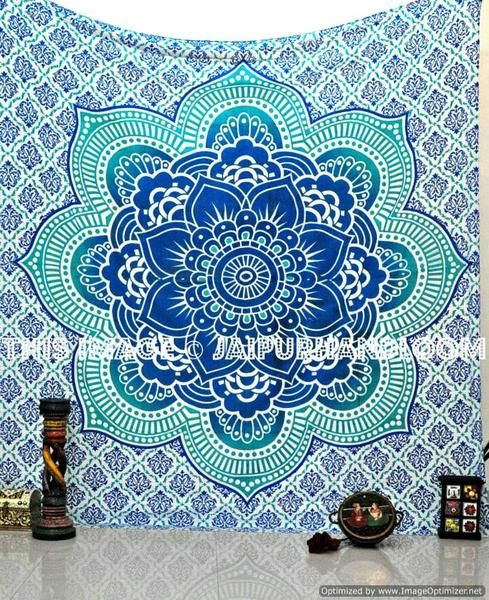 The elegant colours used in this wall hanging/bedspread  will match your bedroom decor. The charming floral and striped designs add to the beauty of this tapestry. The tapestry is multipurpose item can be used as wall hanging, bed cover, table cover, college dorm room wall hanging etc. The tapestry can be used into college dorm & bedroom.