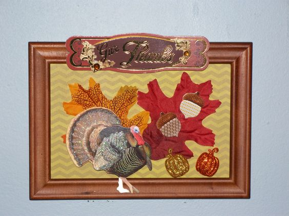 Thanksgiving mixed media collage.