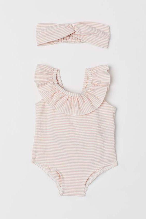 H M Badeanzug Und Haarband Pink Baby Girl Clothes Amp Baby Badeanzug Clothes Girl Haarb Madchen Kleidung Babykleidung Madchen Badeanzug Madchen