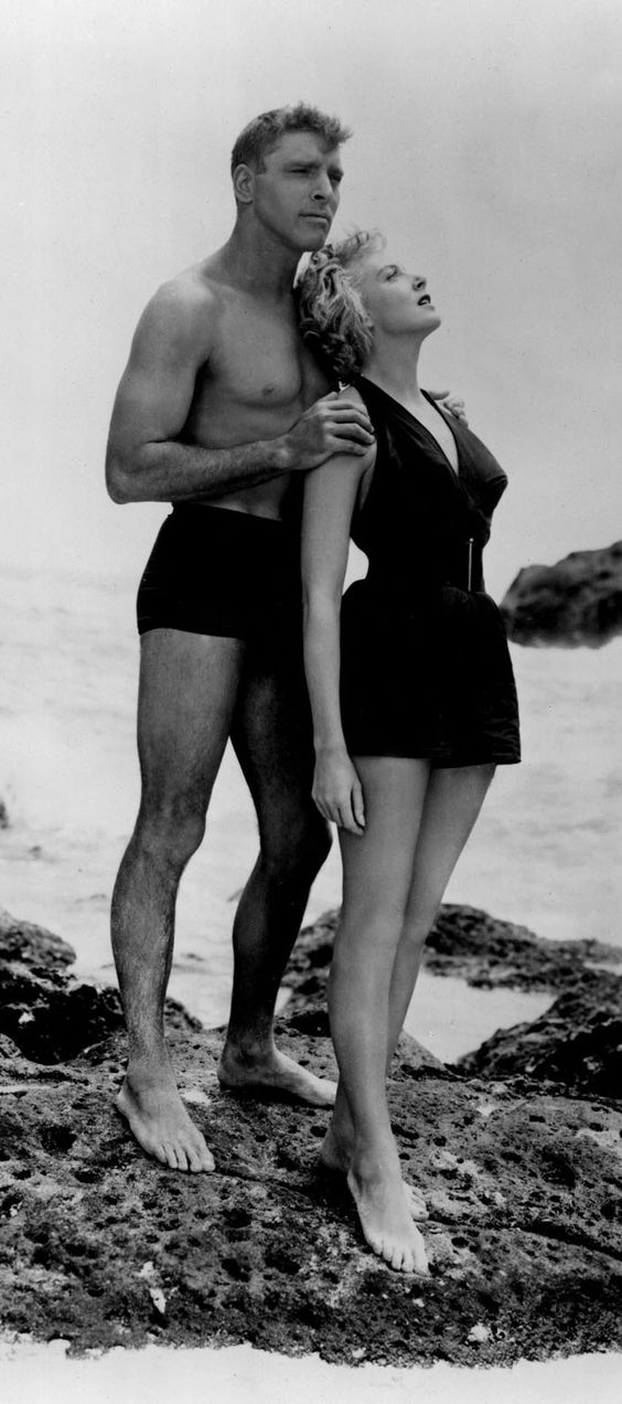 Burt Lancaster and Deborah Kerr in From here to Eternity, 1953~