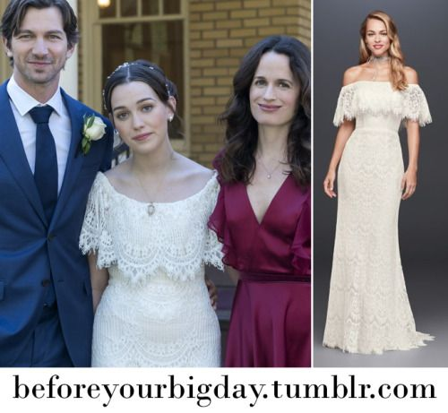 Lace Off The Shoulder Wedding Gown From The Haunting Of Hill