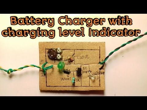 298 3 7 Volt Charger With Charging Indicator Youtube Charger Battery Charger Circuit Electronics Circuit
